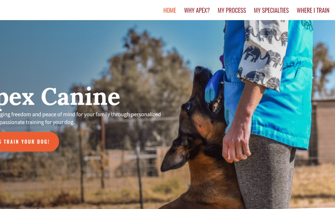 Apex Canines Website Keyword Research, Copywriting, and Design