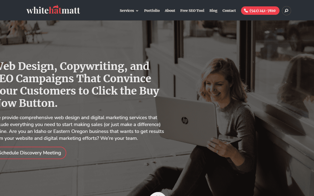 Website Pages Redesign | Web Design | White Hat Matt
